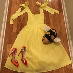 Lemon Yellow Linen Sundress